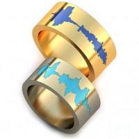 Уникальные парные обручальные кольца арт: AU75