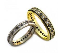 Уникальные парные обручальные кольца арт: AU77