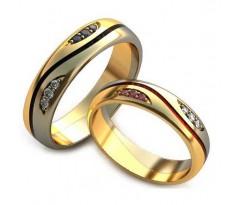 Уникальные парные обручальные кольца арт: AU86
