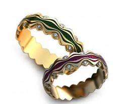 Уникальные парные обручальные кольца арт: AU91