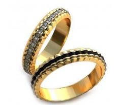 Уникальные парные обручальные кольца арт: AU92