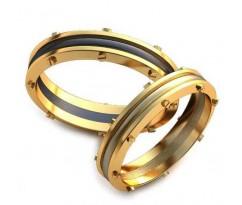 Уникальные парные обручальные кольца арт: AU95