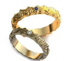 Уникальные парные обручальные кольца арт: AU97