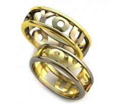 Уникальные парные обручальные кольца арт: AU99