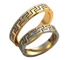 Авторские парные обручальные кольца арт: AU455