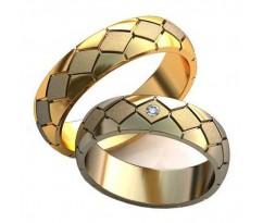 Авторские парные обручальные кольца арт: AU456