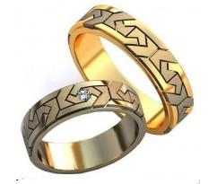 Авторские парные обручальные кольца арт: AU457