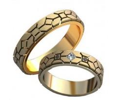 Авторские парные обручальные кольца арт: AU458