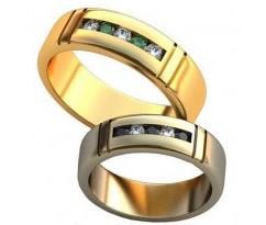 Авторские парные обручальные кольца арт: AU459