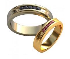 Авторские парные обручальные кольца арт: AU460