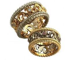 Авторские парные обручальные кольца арт: AU461