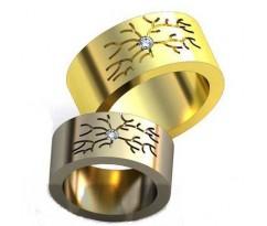 Авторские парные обручальные кольца арт: AU464