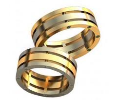 Авторские парные обручальные кольца арт: AU466
