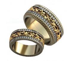 Авторские парные обручальные кольца арт: AU467