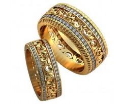 Авторские парные обручальные кольца арт: AU468