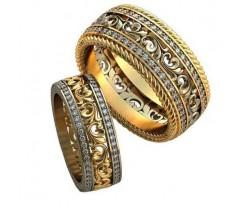 Авторские парные обручальные кольца арт: AU469