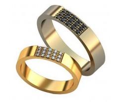 Авторские парные обручальные кольца арт: AU470