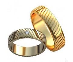 Авторские парные обручальные кольца арт: AU472