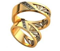 Авторские парные обручальные кольца арт: AU475