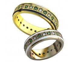 Авторские парные обручальные кольца арт: AU477