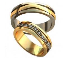 Авторские парные обручальные кольца арт: AU479