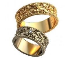 Авторские парные обручальные кольца арт: AU481