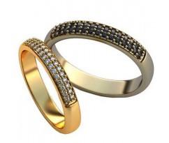 Авторские парные обручальные кольца арт: AU483