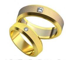 Авторские парные обручальные кольца арт: AU489