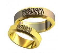 Авторские парные обручальные кольца арт: AU490