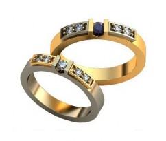 Авторские парные обручальные кольца арт: AU491
