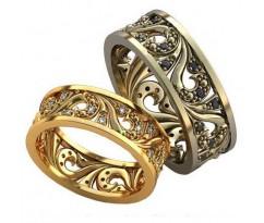 Авторские парные обручальные кольца арт: AU492