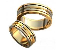Авторские парные обручальные кольца арт: AU493