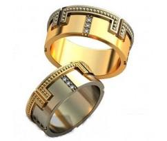 Авторские парные обручальные кольца арт: AU494
