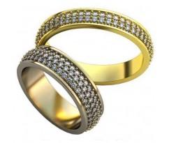 Авторские парные обручальные кольца арт: AU498