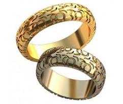 Авторские парные обручальные кольца арт: AU499