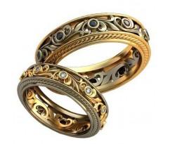 Авторские парные обручальные кольца арт: AU500
