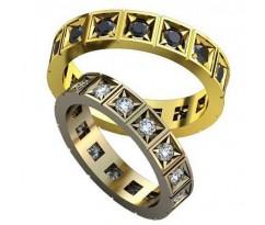 Авторские парные обручальные кольца арт: AU502