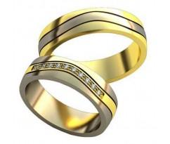 Авторские парные обручальные кольца арт: AU503