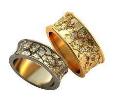 Авторские парные обручальные кольца арт: AU504