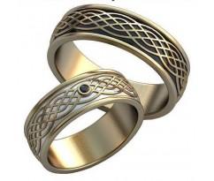 Авторские парные обручальные кольца арт: AU505