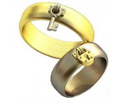 Авторские парные обручальные кольца арт: AU508