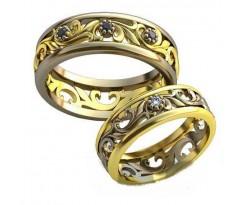 Авторские парные обручальные кольца арт: AU509