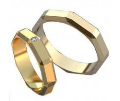 Авторские парные обручальные кольца арт: AU510