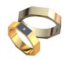 Авторские парные обручальные кольца арт: AU511