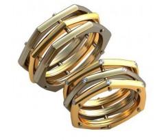 Авторские парные обручальные кольца арт: AU514