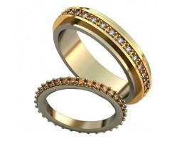 Авторские парные обручальные кольца арт: AU515