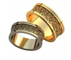 Авторские парные обручальные кольца арт: AU516