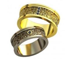 Авторские парные обручальные кольца арт: AU517