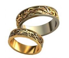 Авторские парные обручальные кольца арт: AU518