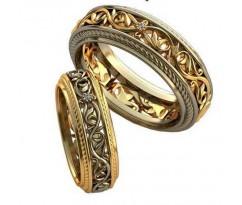 Авторские парные обручальные кольца арт: AU520